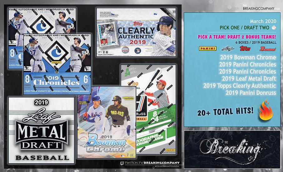 Topps/Bowman/Leaf 6-Box Pick One Draft Two