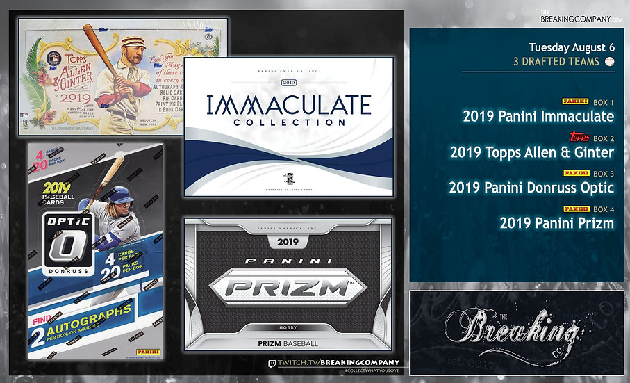 8/6: Immaculate / Allen & Ginter / Optic / Prizm