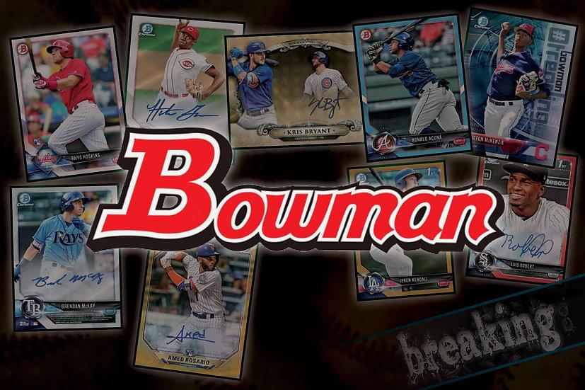 4/25: 2018 Bowman Baseball 12-Box Case