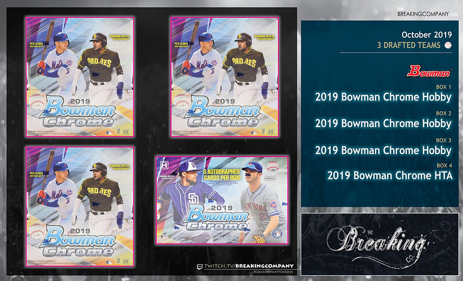 2019 Bowman Chrome 4-Box Draft Break
