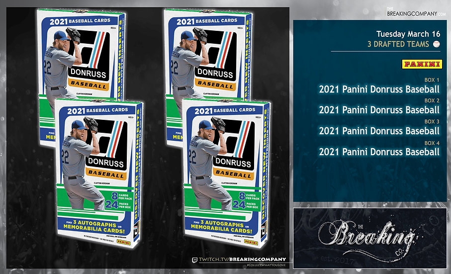 2021 Panini Donruss x4 | 3 Drafted Teams