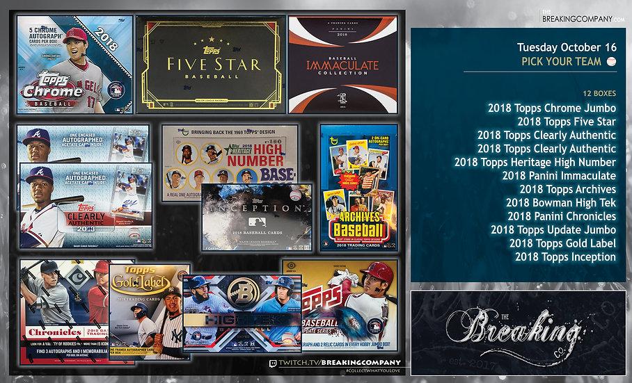 11/27: 2018 Baseball 12-Box PYT