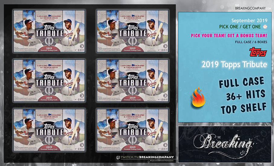 2019 Topps Tribute Full Case P1G1