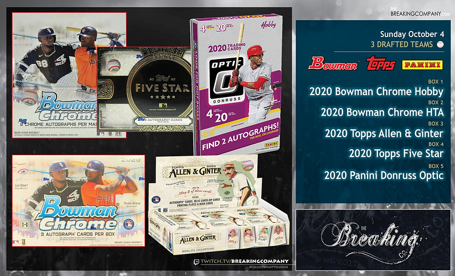 2020 Bowman Chrome / Five Star / Allen & Ginter / Optic | 3 Drafted Teams