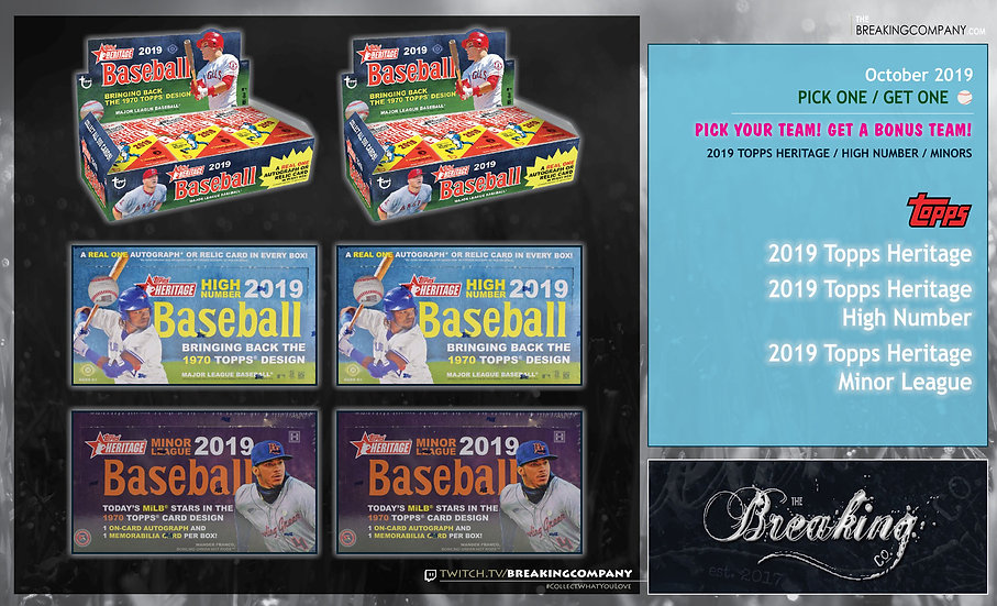 2019 Topps Heritage Mixed P1G1