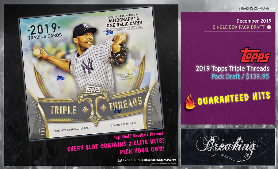 2019 Topps Triple Threads Pack Draft