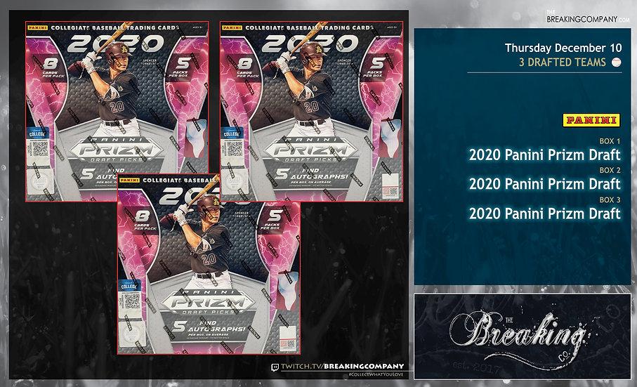 2020 Panini Prizm Draft Picks x3   3 Drafted Teams