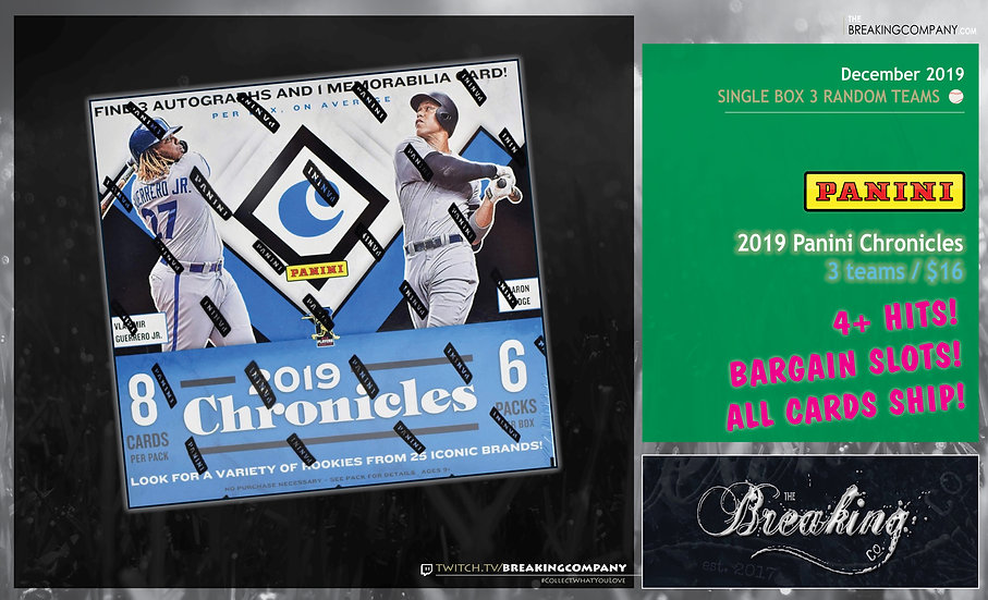 2019 Panini Chronicles Single Box Random Teams