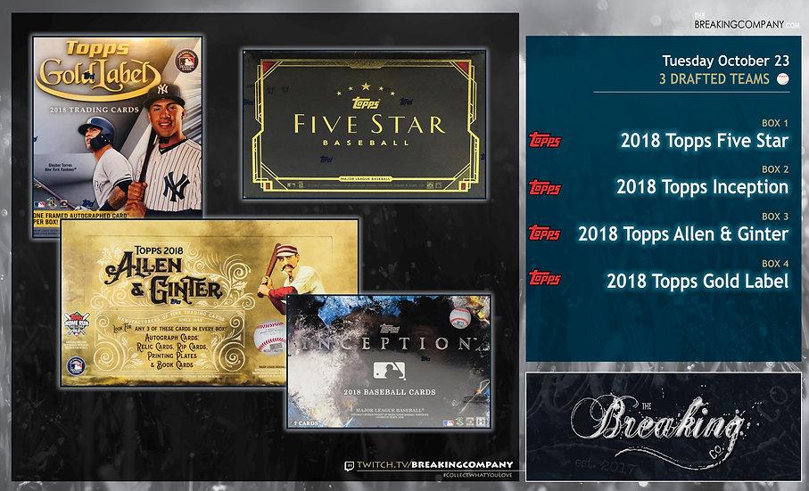 10/23: Five Star / Allen & Ginter / Inception / Gold Label