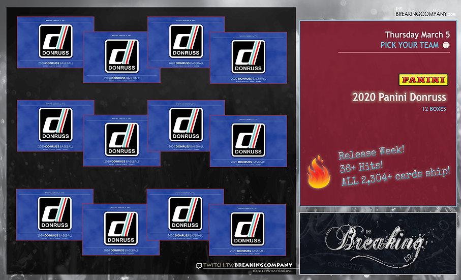 2020 Panini Donruss 12-Box Pick Your Team (PYT)