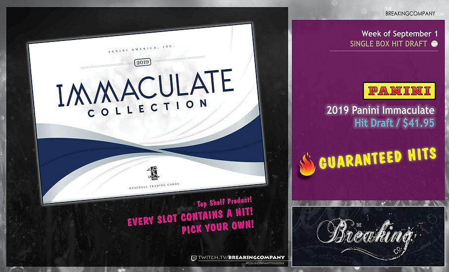 2019 Panini Immaculate Hit Draft