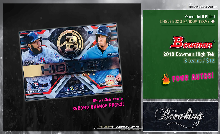 Single Box Random: 2018 Bowman High Tek