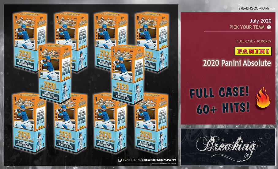 2020 Panini Absolute 10-Box Case   PYT (Pick Your Team)