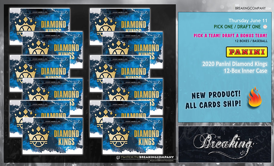 2020 Panini Diamond Kings 12-Box Inner Case | Pick One/Draft One