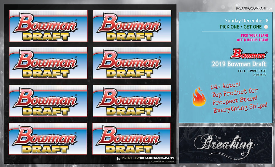 2019 Bowman Draft Jumbo Case P1G1