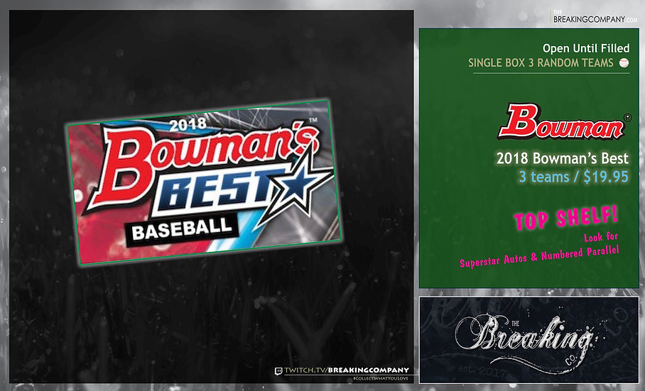 Single Box Random: 2018 Bowman's Best