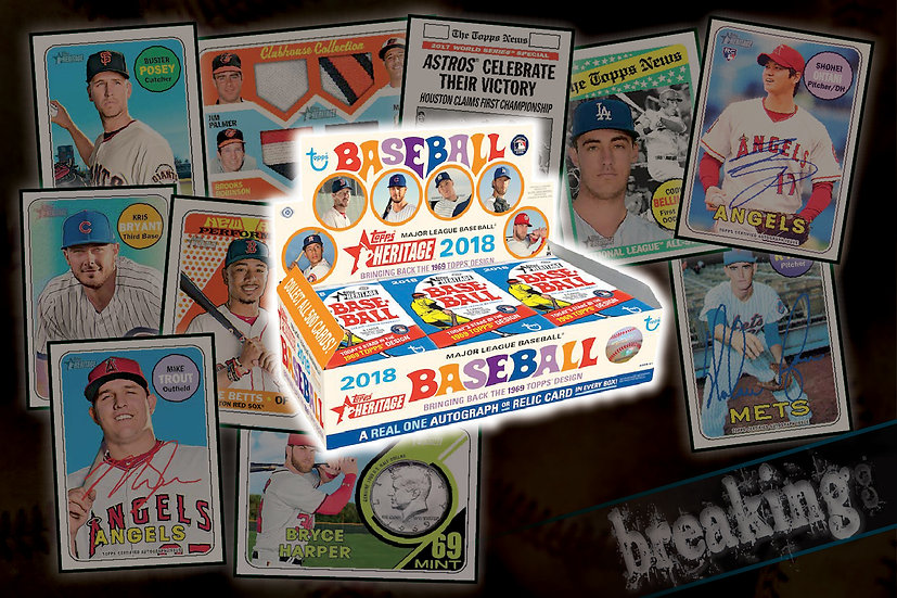3/1: 2018 Topps Heritage 12-Box Case PYT