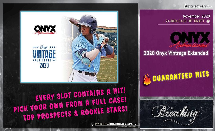 2020 Onyx Vintage Extended 24-Box Full Case Hit Draft