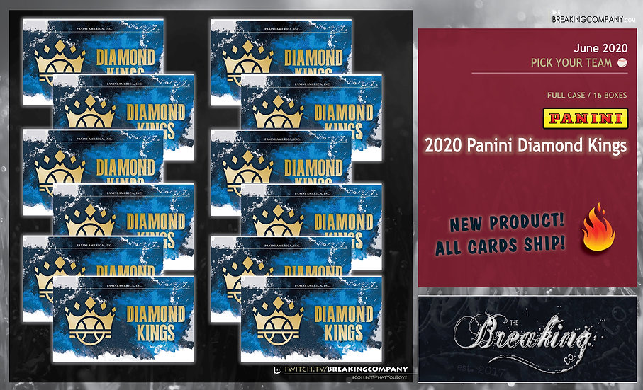 2020 Panini Diamond Kings 12-Box Inner Case | PYT (Pick Your Team)
