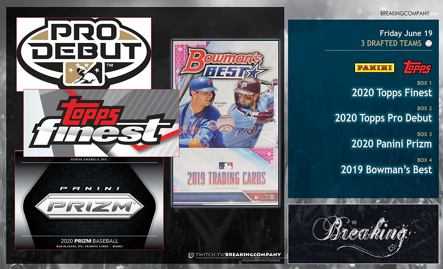 20 Topps Finest / Pro Debut / Panini Prizm / 19 Bowman's Best | 3 Drafted Teams
