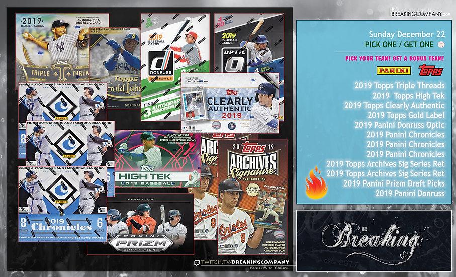 2019 12-Box Mixed Baseball P1G1
