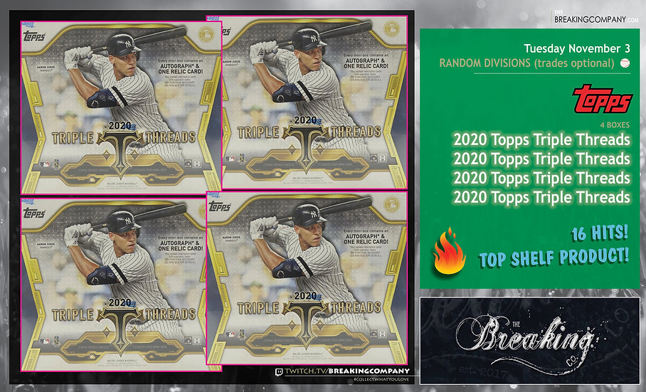 2020 Topps Triple Threads x4 #2 | Random Divisions