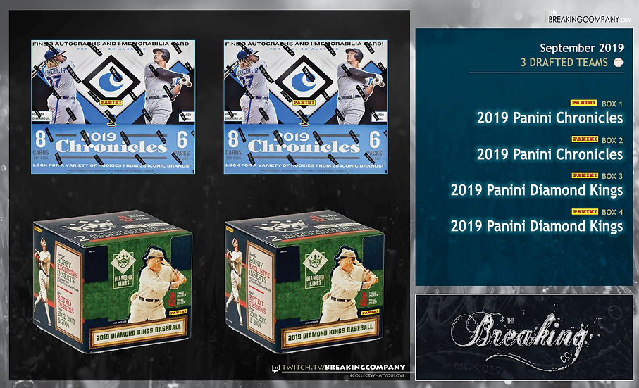 2019 Panini Chronicles / 2019 Panini Diamond Kings 4-Box Draft Break