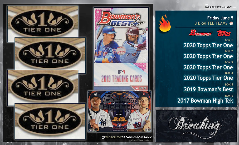 20 Topps Tier One / 19 Bowman's Best / 17 Bowman High Tek | 3 Drafted Teams