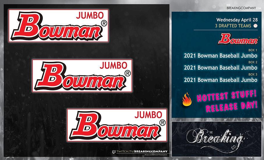 2021 Bowman Baseball HTA Jumbo x3 | 3 Drafted Teams