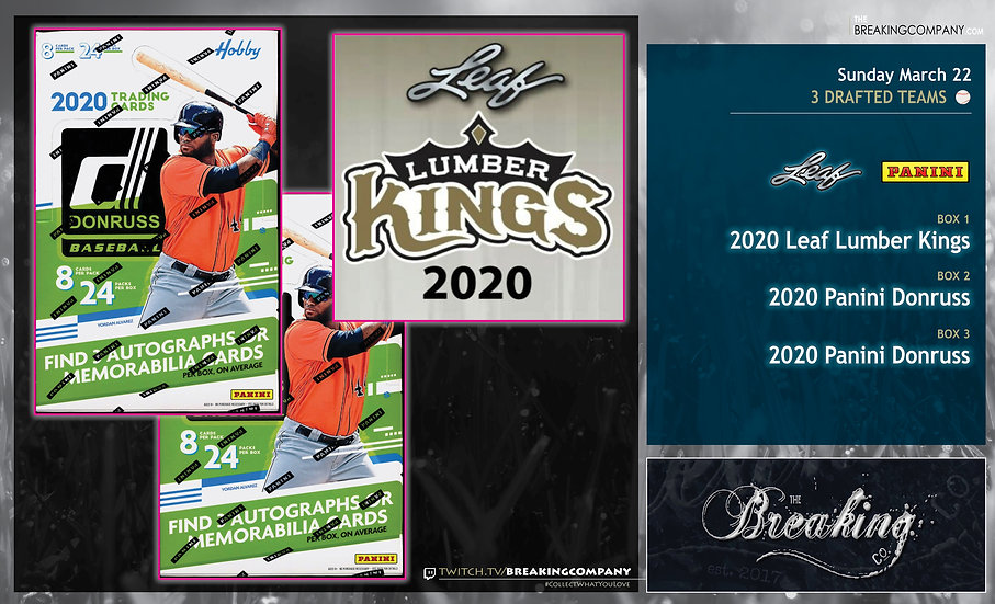 2020 Leaf Lumber Kings /  Panini Donruss Team Draft