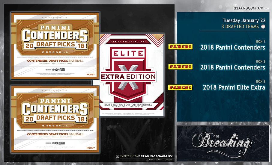 1/22: Contenders x2 / Elite Extra Edition