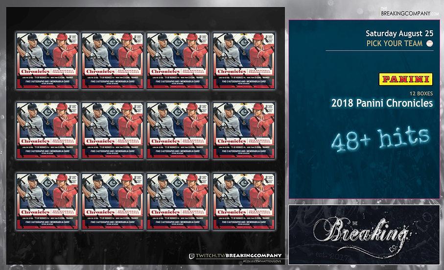 8/25: Panini Chronicles 12-Box PYT