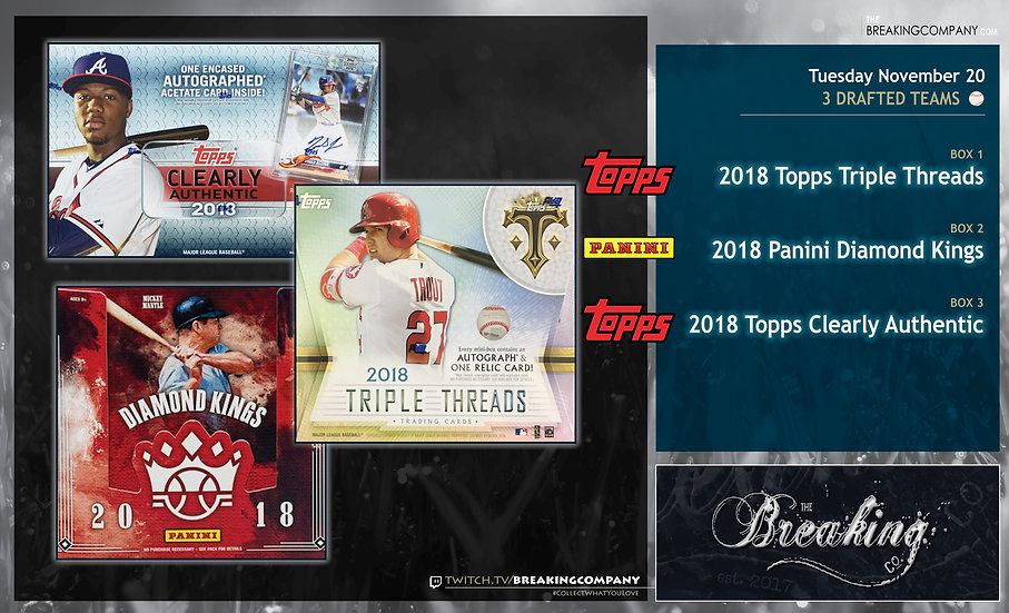11/23 Draft: Triple Threads / Diamond Kings / Clearly Authentic