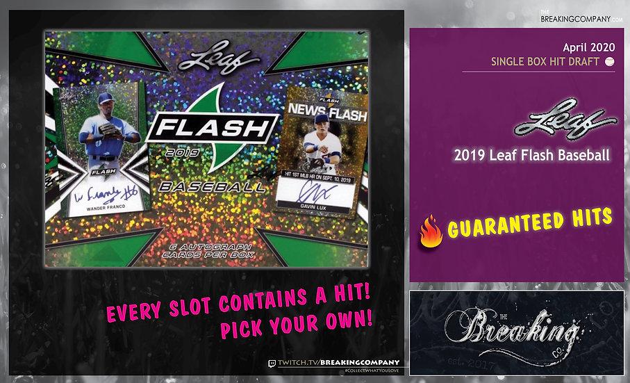 2019 Leaf Flash Baseball Hit Draft