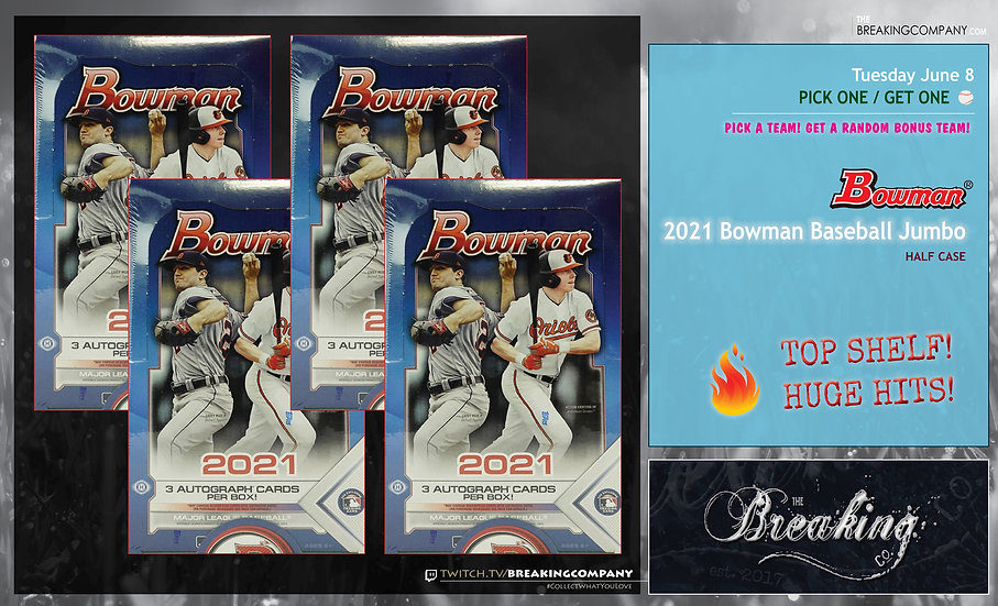 2021 Bowman Baseball Jumbo Half Case | P1G1