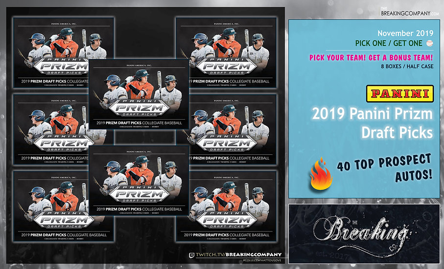 2019 Panini Prizm Draft Picks 8-Box P1G1