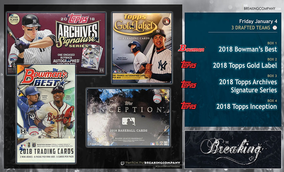 1/4: Bowman's Best / Gold Label / Inception / Archives Sig Series
