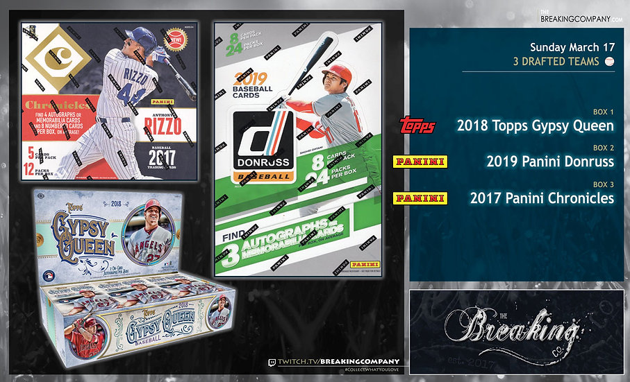 3/17: Gypsy Queen / Donruss / Chronicles