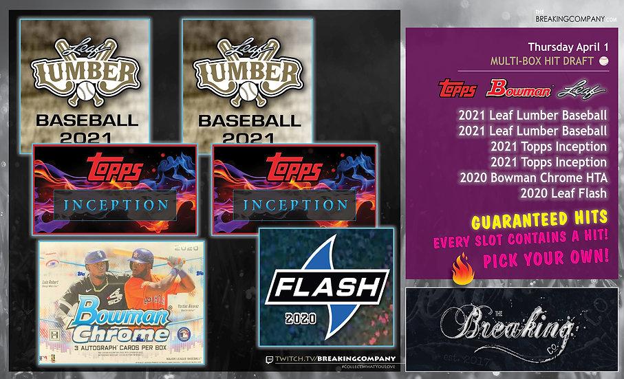 20/21 Bowman/Topps/Leaf Baseball Multi-Box | Hit Draft