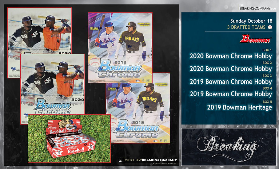 2020 Bowman Chrome x2 / 2019 Bowman Chrome x2 / 2019 Bowman Heritage | 3 Drafted
