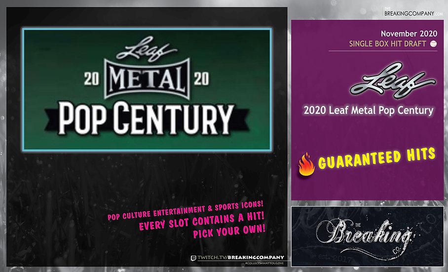 2020 Leaf Metal Pop Century   Hit Draft