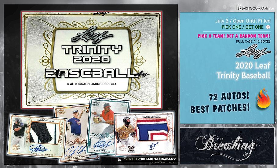 2020 Leaf Trinity Baseball 12-Box Case | P1G1