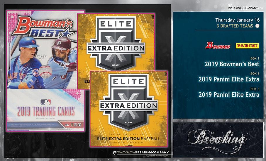 2019 Bowman's Best / Elite Extra x2 Team Draft
