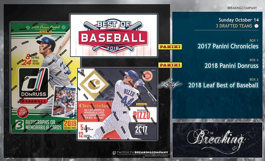 10/14: Chronicles / Donruss / Best of Baseball