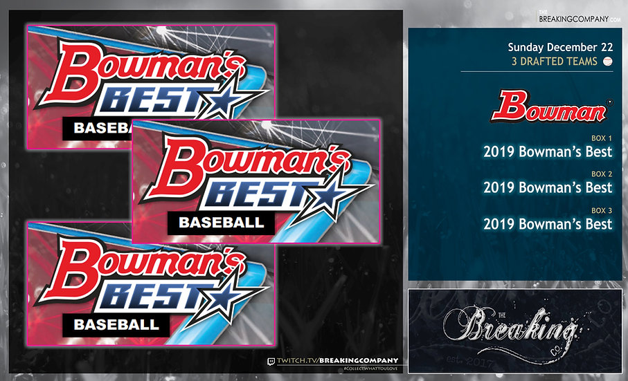 2019 Bowman's Best Team Draft