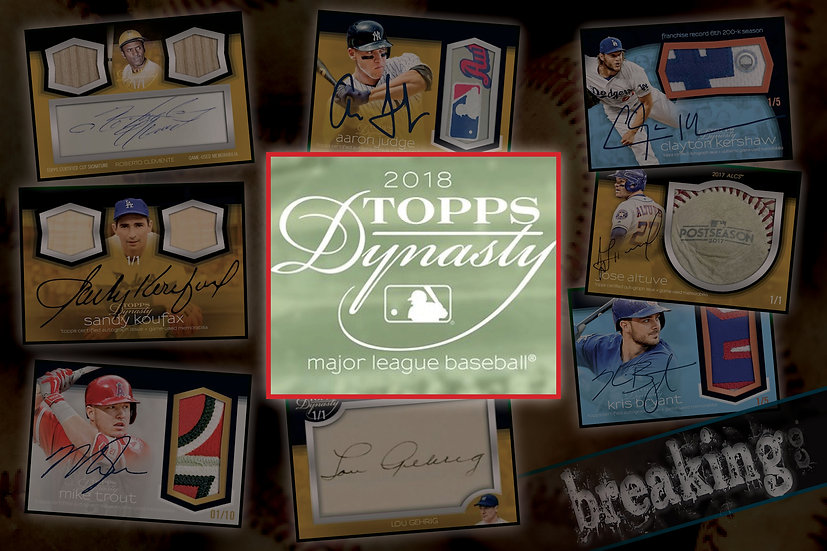 12/7: Topps Dynasty Solo Break