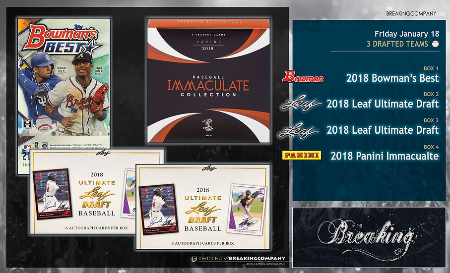 1/18: Bowman's Best / Ultimate Draft x2 / Immaculate