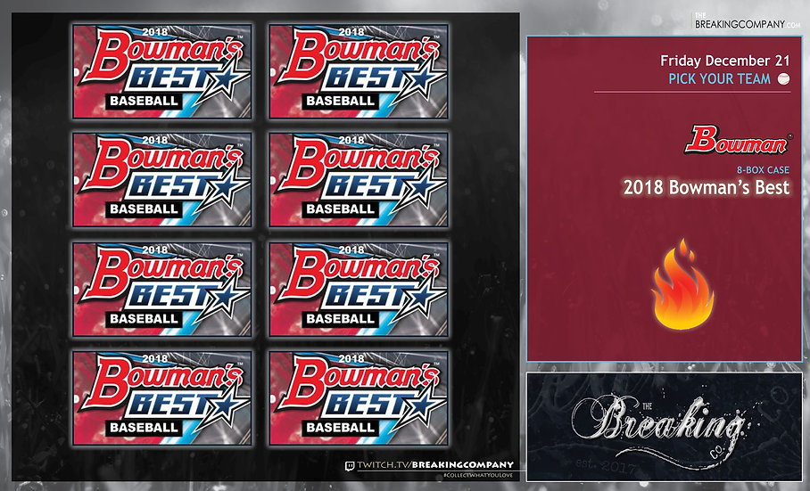 12/21: 2018 Bowman's Best Case PYT