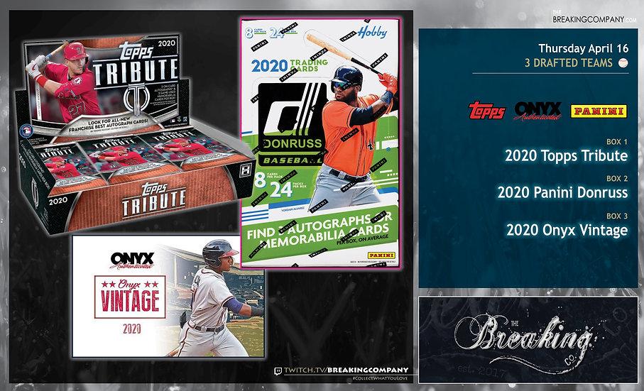 2020 Topps Tribute / Panini Donruss / Onyx Vintage 3-Team Draft