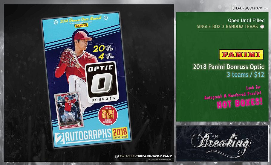 Single Box Random: 2018 Panini Donruss Optic